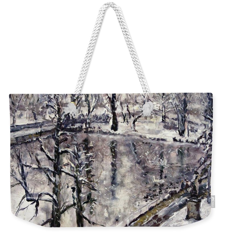 Landscape Weekender Tote Bag featuring the painting Zamecky Rybnik by Pablo de Choros