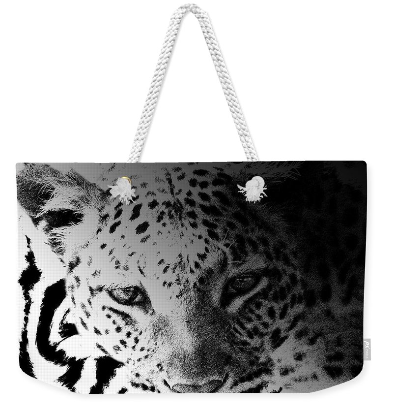Zebra Weekender Tote Bag featuring the digital art Zebra Kill by Diane Parnell