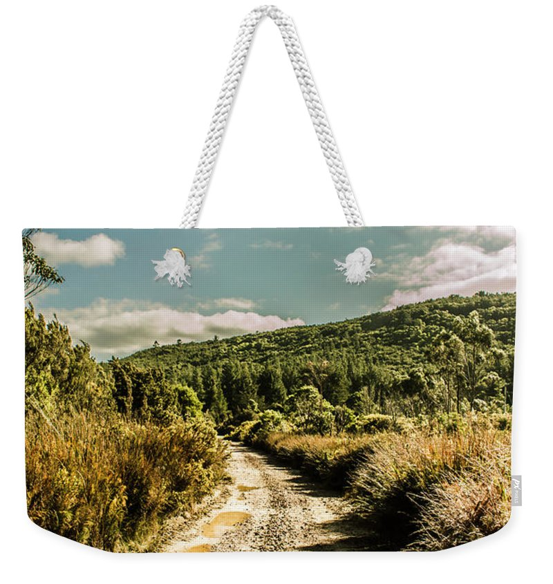 Tasmania Weekender Tote Bag featuring the photograph Zeehan Dirt Road Landscape by Jorgo Photography - Wall Art Gallery