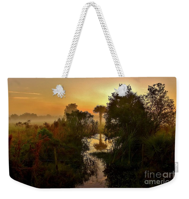 Landscape Weekender Tote Bag featuring the photograph Zen Awakening by Lisa Renee Ludlum