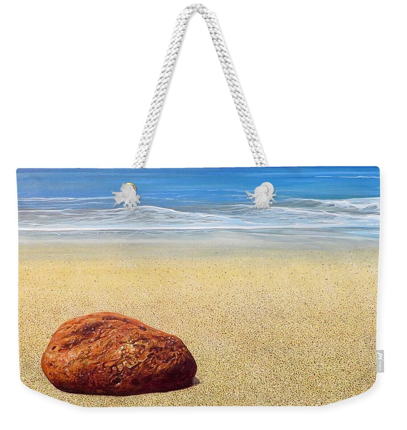 Puerto Vallarta Weekender Tote Bag featuring the painting Zen by Hunter Jay