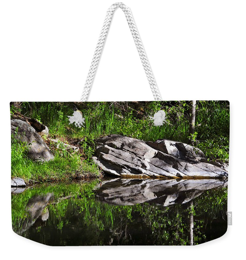 Skip Hunt Weekender Tote Bag featuring the photograph Zen Pool by Skip Hunt