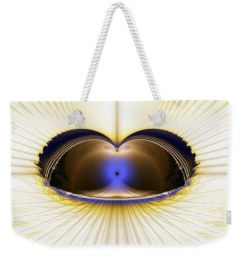 Zen Weekender Tote Bag featuring the digital art Zen Temple by Ron Bissett