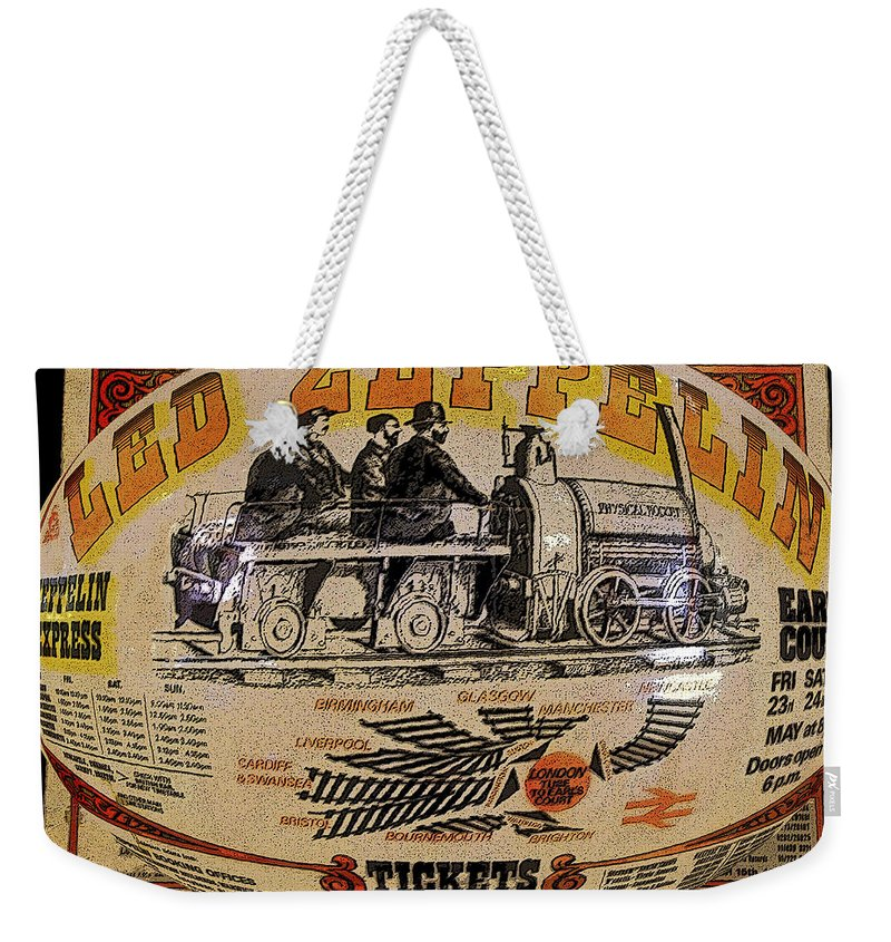 Art Weekender Tote Bag featuring the painting Zeppelin Express Work B by David Lee Thompson