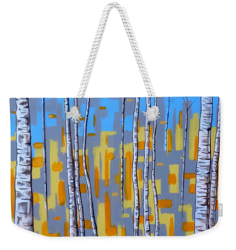 Abstract Weekender Tote Bag featuring the painting Zhivago by Tara Hutton