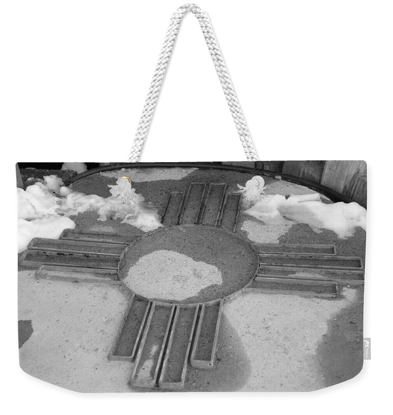 Zia Sun Weekender Tote Bag featuring the photograph Zia Sun by Rob Hans