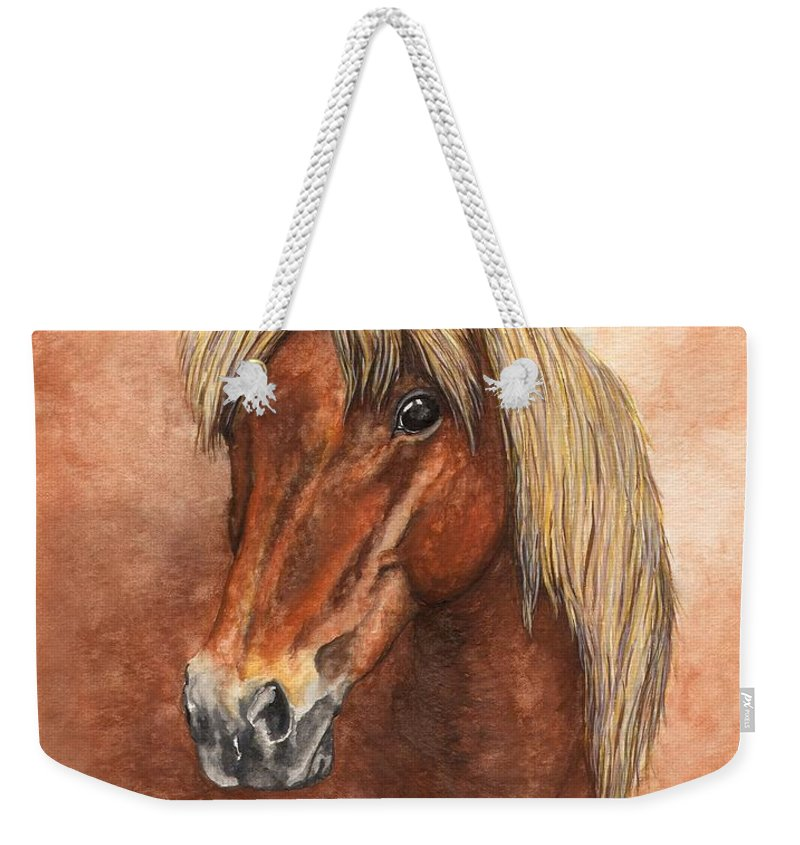 Pony Weekender Tote Bag featuring the painting Ziggy by Kristen Wesch