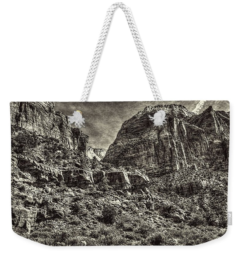 Pictorial Weekender Tote Bag featuring the photograph Zion National Park II by Roger Passman