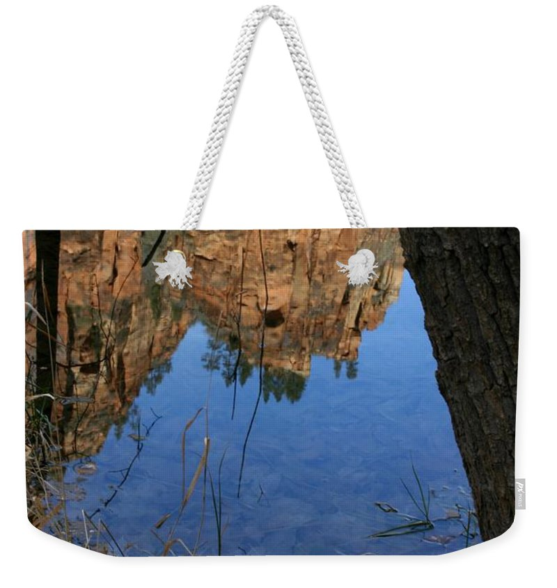Zion Weekender Tote Bag featuring the photograph Zion Reflections by Nelson Strong