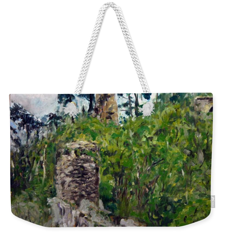 Landscape Weekender Tote Bag featuring the painting Zlomeny Kostelec by Pablo de Choros