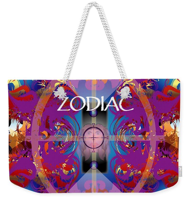 Abstaract Weekender Tote Bag featuring the digital art Zodiac 2 by George Pasini