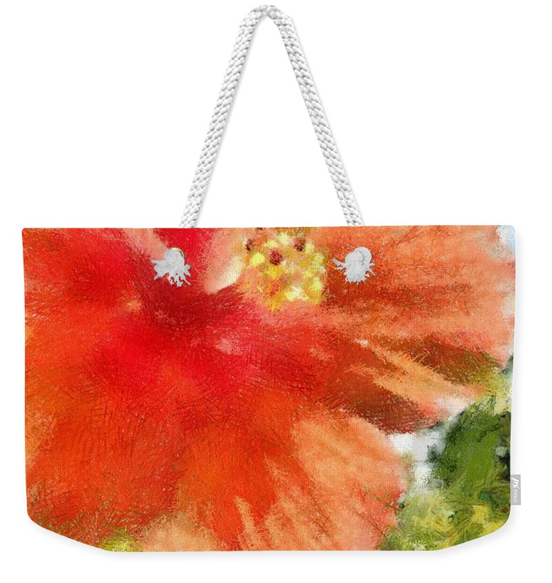 Zoo Weekender Tote Bag featuring the painting Zoo Flower by Jeffrey Kolker