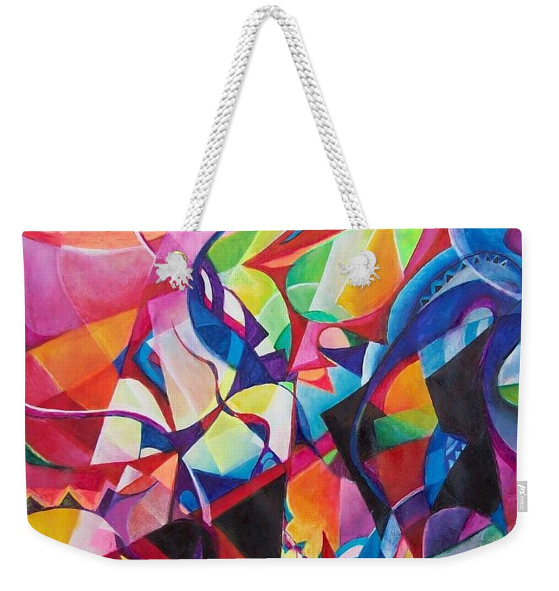 Viktor Tsoy Natali Russian Sun Light Weekender Tote Bag featuring the painting zvezda po imeni solnce A star called sun by Wolfgang Schweizer
