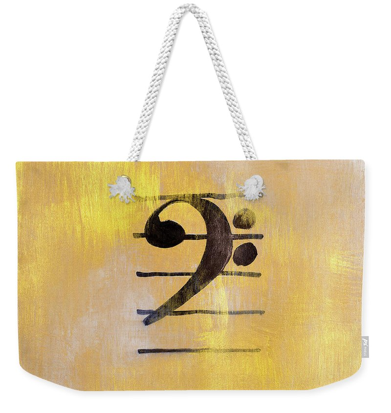 Bass Weekender Tote Bag featuring the painting Bass Clef by Lanie Loreth