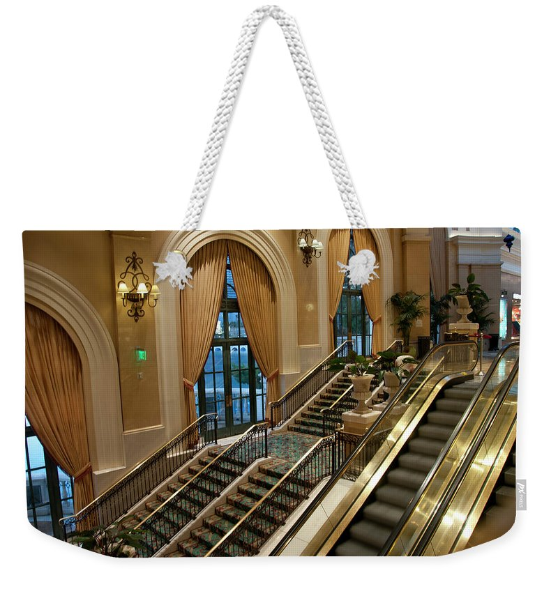 Arch Weekender Tote Bag featuring the photograph Bellagio Interior by Mitch Diamond