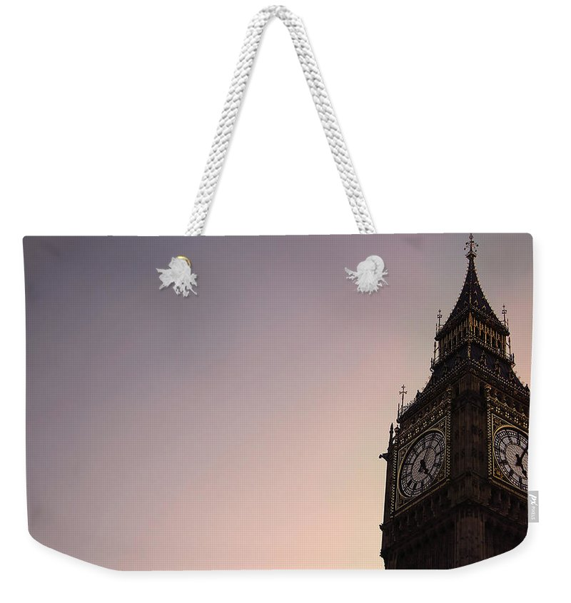 Clock Tower Weekender Tote Bag featuring the photograph Big Ben Clock Tower by Sherif A. Wagih (s.wagih@hotmail.com)