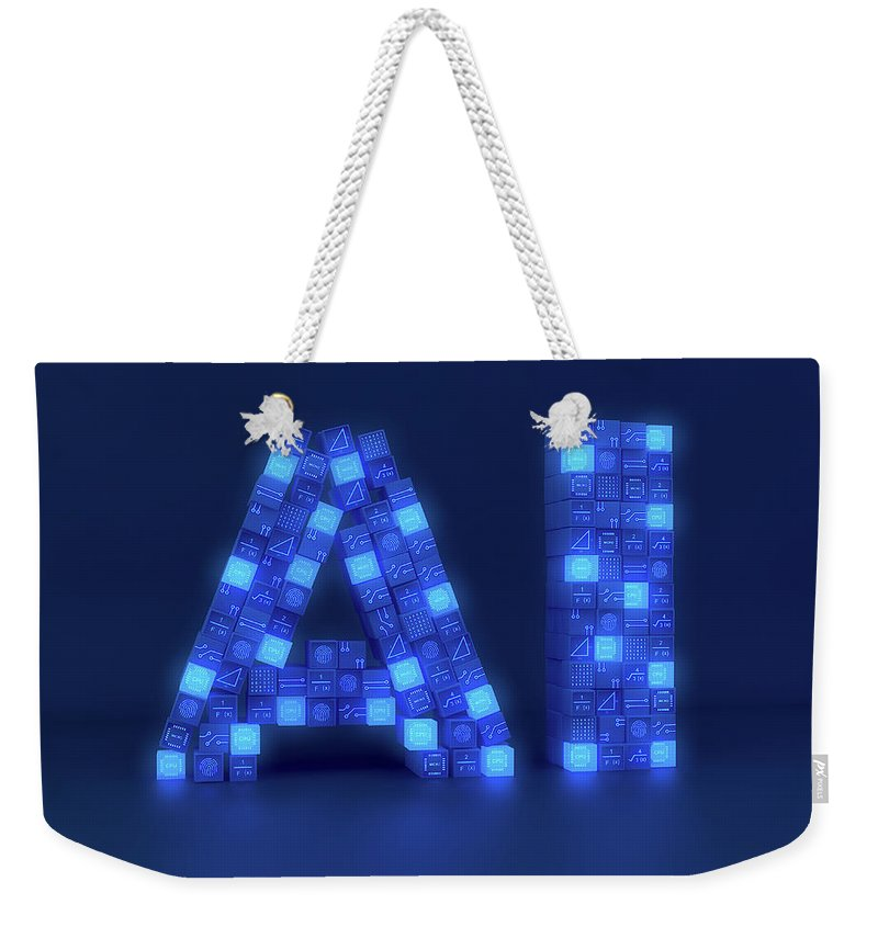 3 D Weekender Tote Bag featuring the photograph Blocks Of Circuit Board, Central 1 by Ikon Images