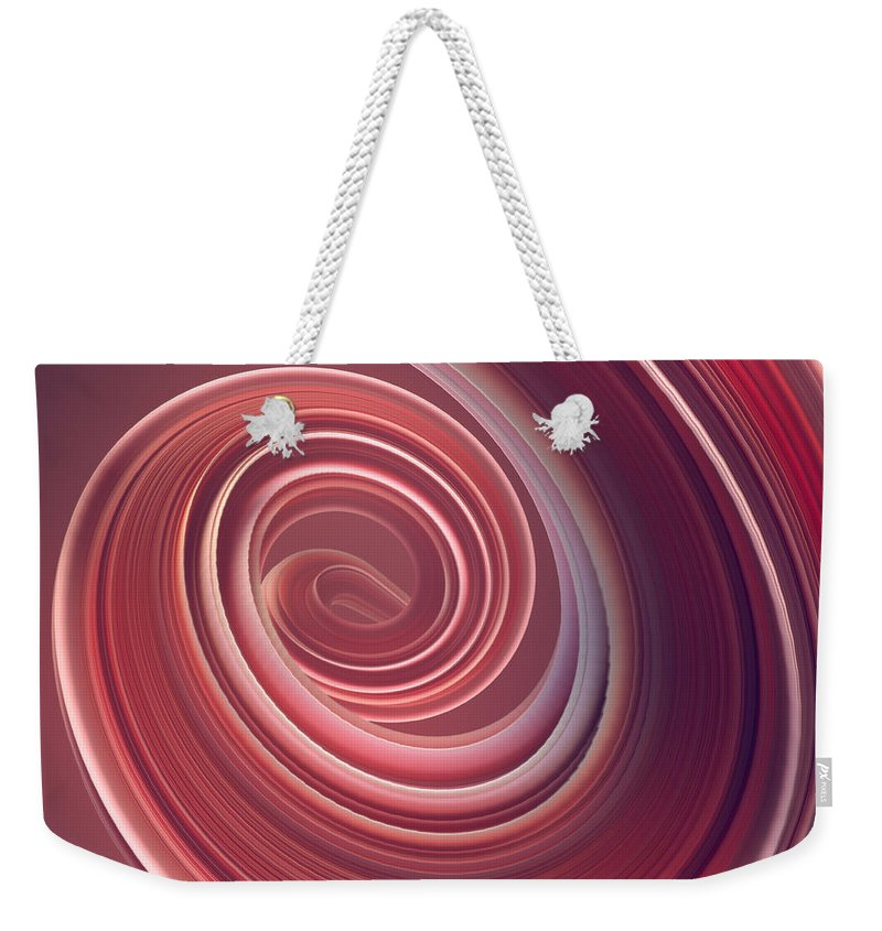 Curve Weekender Tote Bag featuring the photograph Colored Twisted Shape. Computer by Andrey a