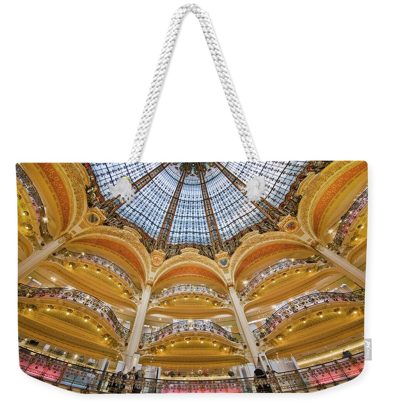 Ile-de-france Weekender Tote Bag featuring the photograph Dome And Balconies Of Galeries by Izzet Keribar
