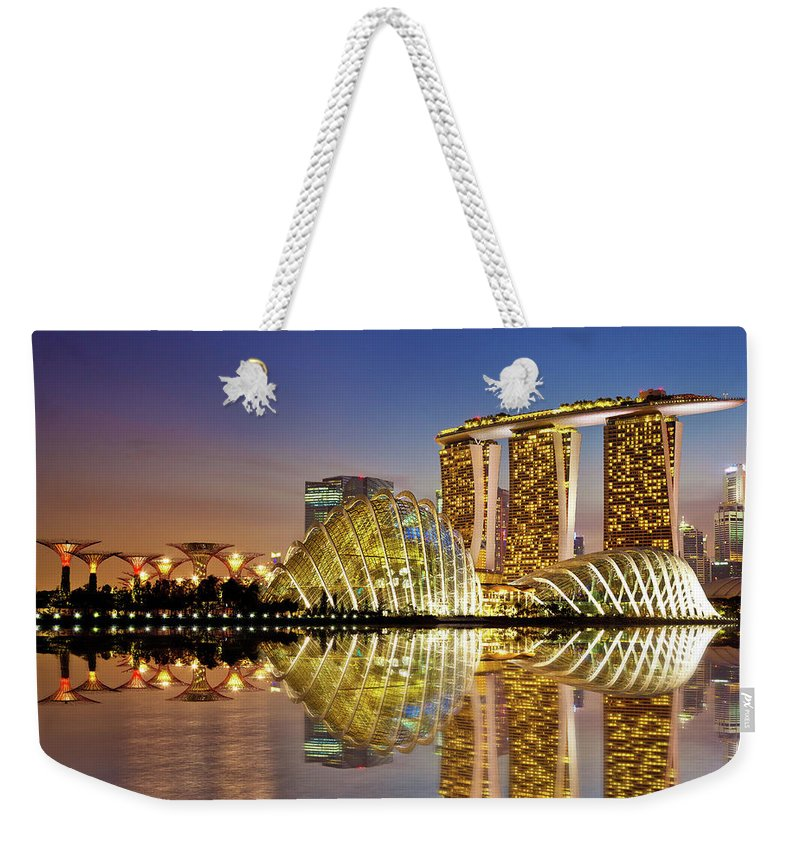 Outdoors Weekender Tote Bag featuring the photograph Gardens By Bay by Seng Chye Teo