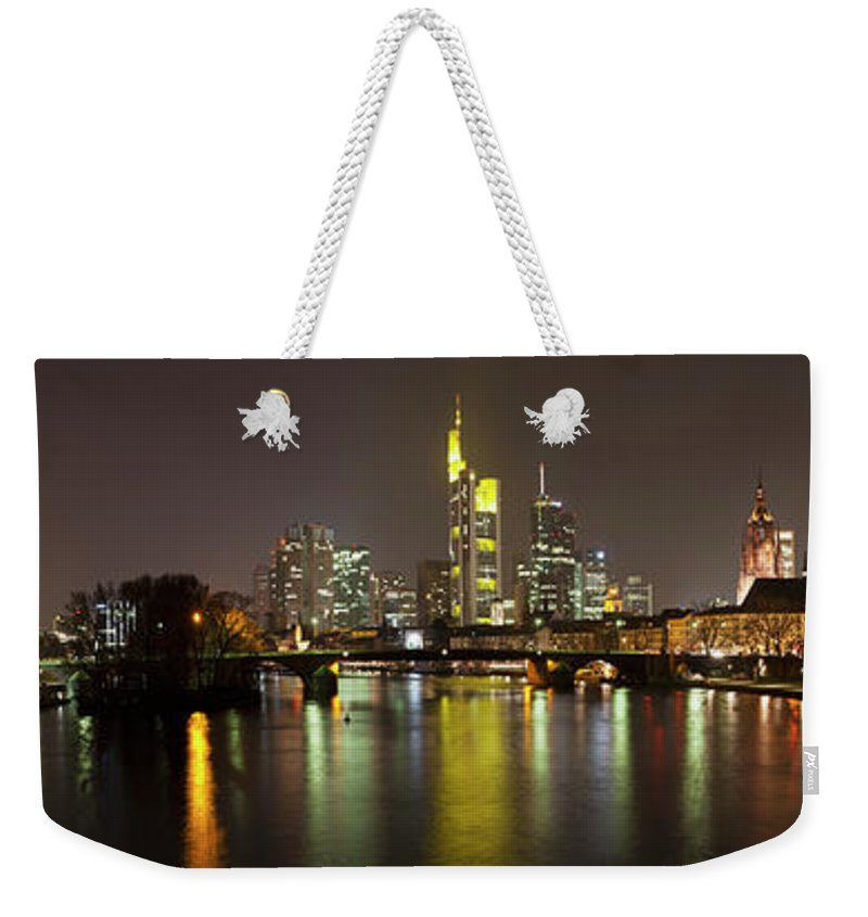 Panoramic Weekender Tote Bag featuring the photograph Germany, Frankfurt, View Of City At by Westend61