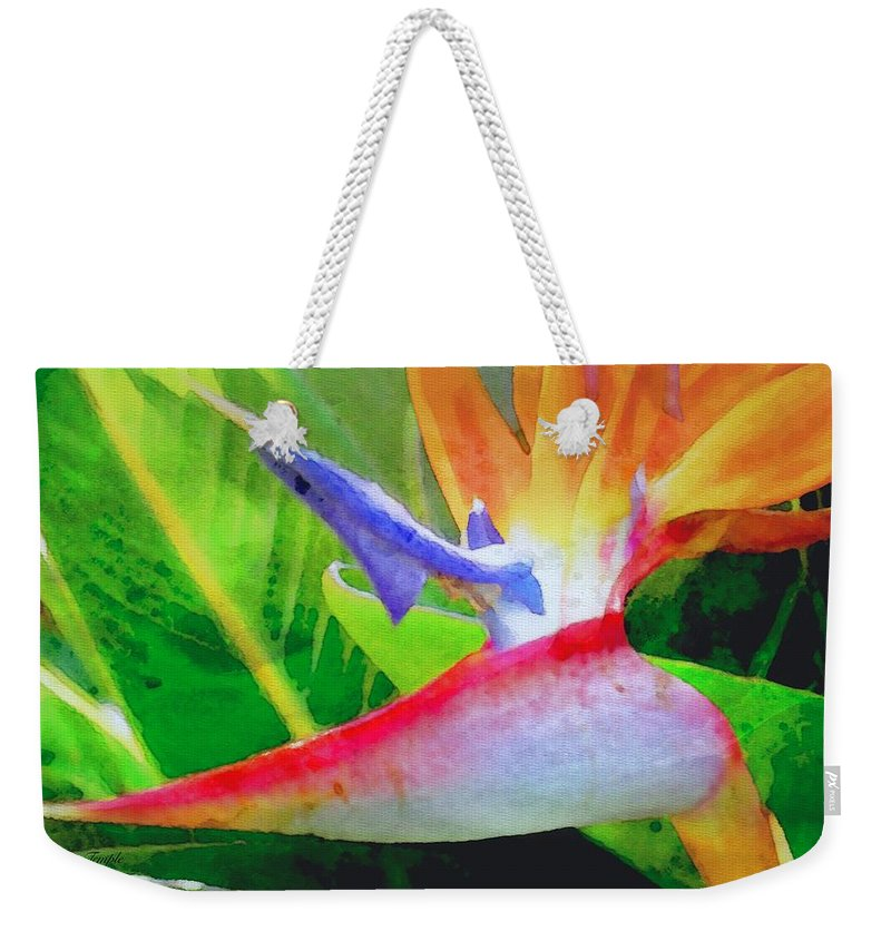 Bird Of Paradise Weekender Tote Bag featuring the digital art Natural High by James Temple