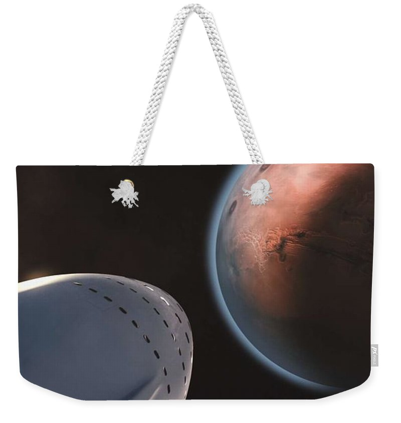System Weekender Tote Bag featuring the painting Interplanetary Transport System 4 by Celestial Images