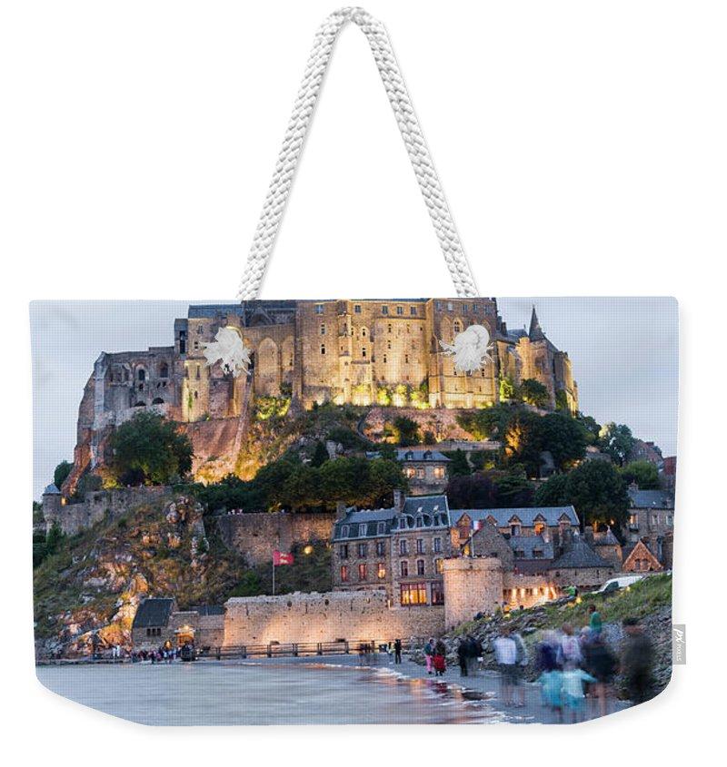 Mont Saint-michel Weekender Tote Bag featuring the photograph Le Mont Saint Michel, Normandy, France by John Harper