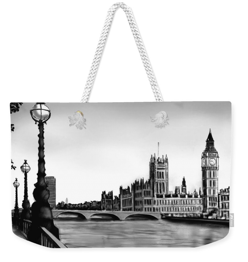 Gothic Style Weekender Tote Bag featuring the digital art Liquidlibrary by Jupiterimages