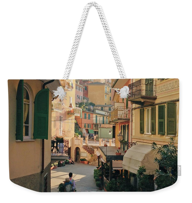 Toddler Weekender Tote Bag featuring the photograph Manarola Italy by M Swiet Productions