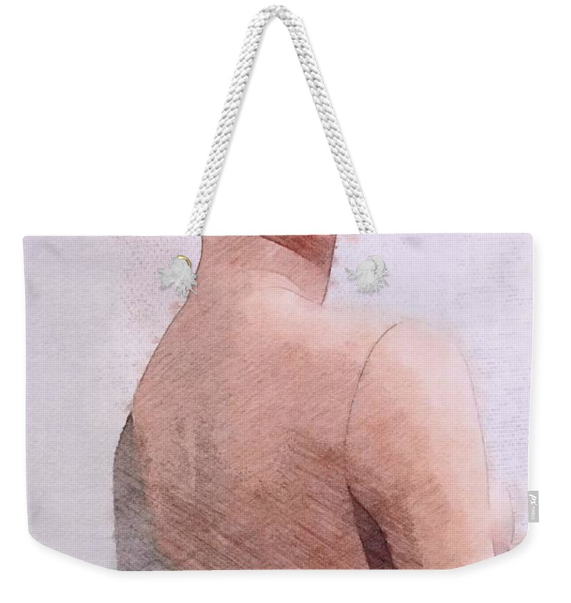 Mannequin Weekender Tote Bag featuring the painting Mannequin by Steve K