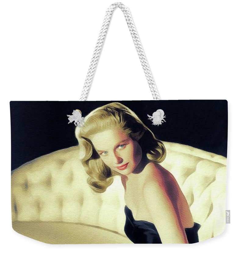 Martha Weekender Tote Bag featuring the painting Martha Hyer, Vintage Actress by John Springfield