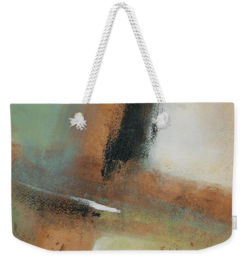 Abstract Weekender Tote Bag featuring the painting Misty Morning I by Lanie Loreth
