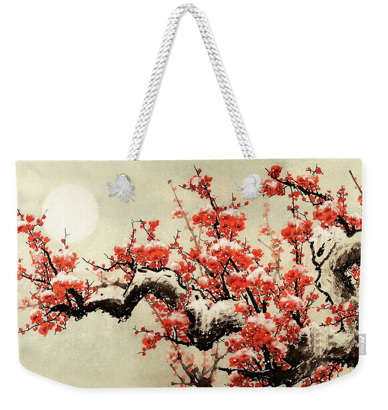 Chinese Culture Weekender Tote Bag featuring the digital art Plum Blossom by Vii-photo