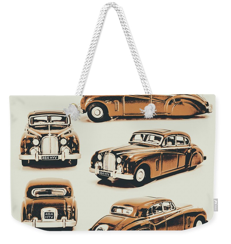 Retro Weekender Tote Bag featuring the photograph Retro Rides by Jorgo Photography - Wall Art Gallery