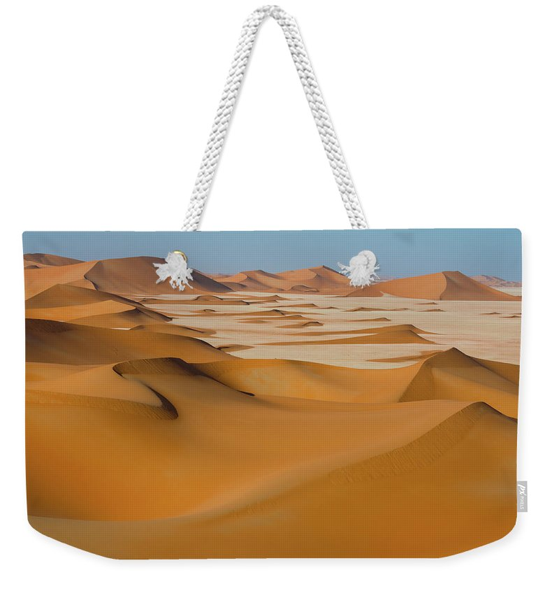Tranquility Weekender Tote Bag featuring the photograph Rub Al-khali Empty Quarter by All Rights Reserved For Ahmed Al-shukaili