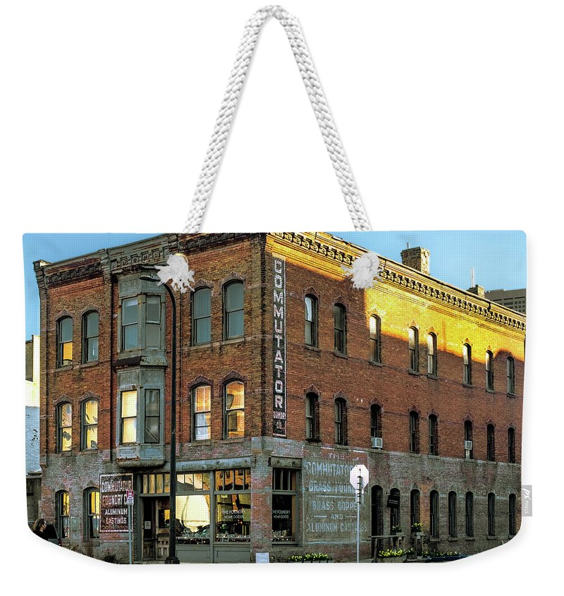 Minneapolis Weekender Tote Bag featuring the photograph See You Later Commutator by Joel Friedman
