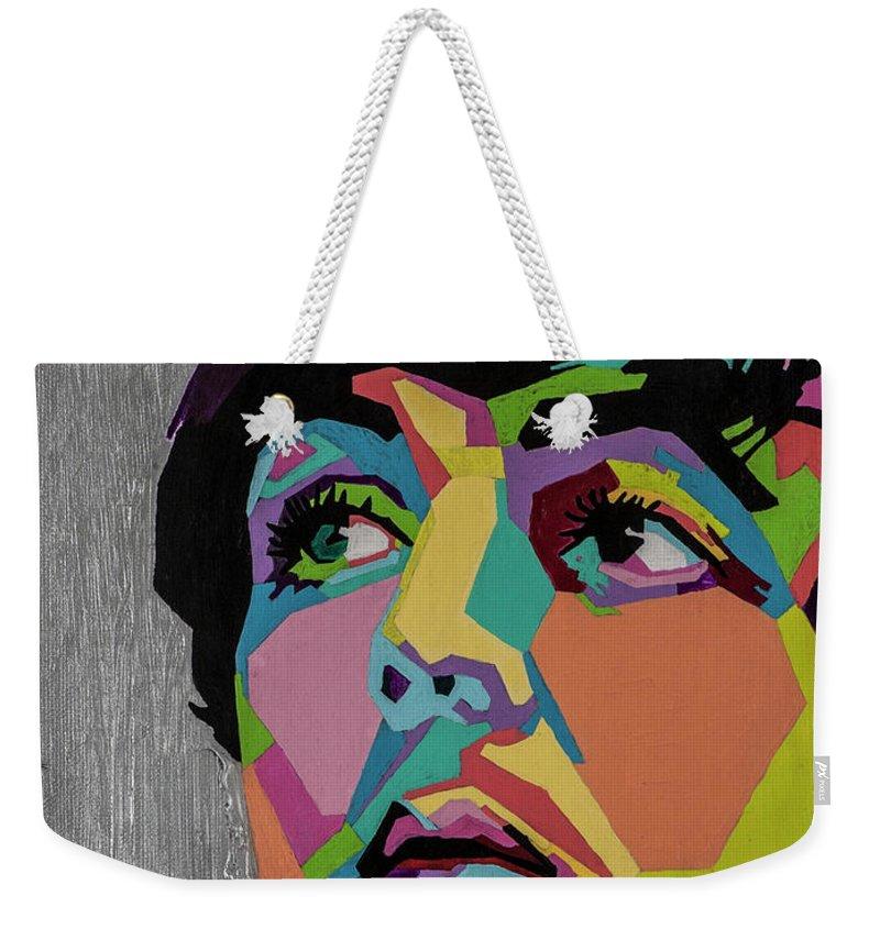 Paul Mccartney Weekender Tote Bag featuring the painting Sir Paul McCartney by Stacie Marie