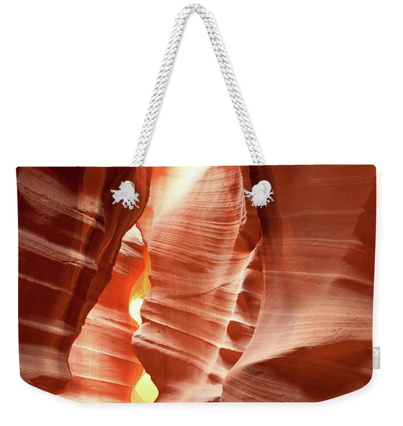 Toughness Weekender Tote Bag featuring the photograph Slot Canyon by Colin Sands