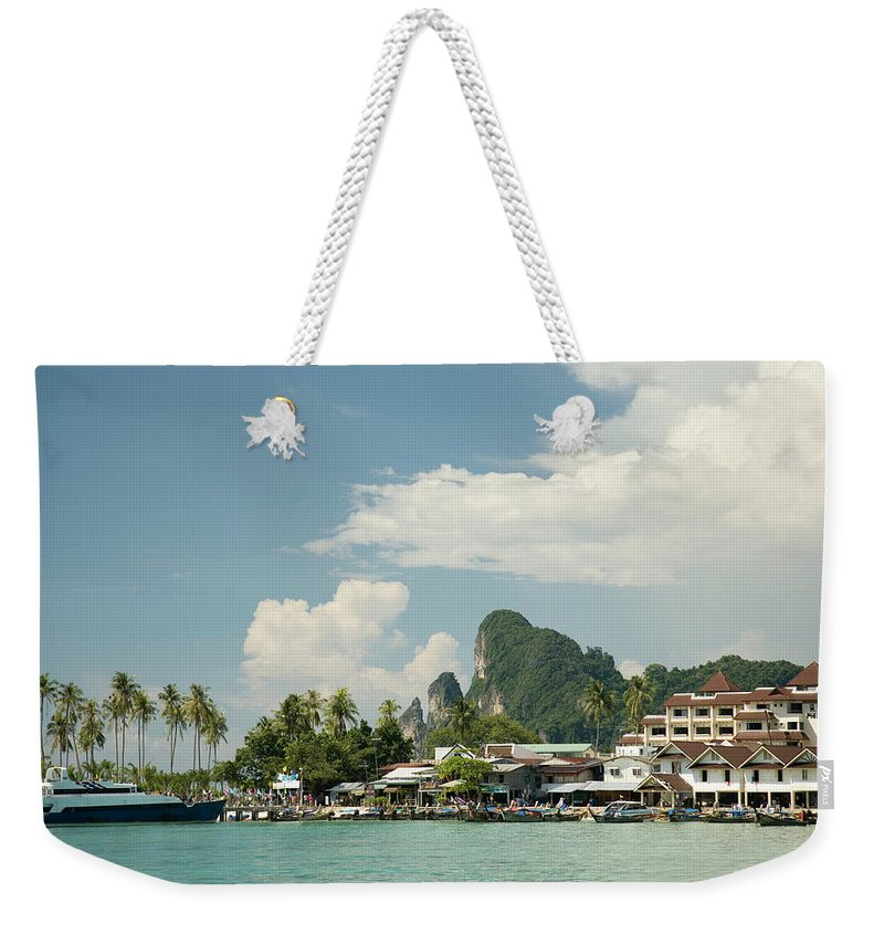 Tranquility Weekender Tote Bag featuring the photograph Thailand, Krabi Province, Phi Phi by Rene Frederick