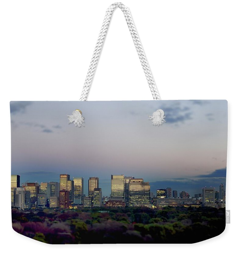 Financial District Weekender Tote Bag featuring the photograph Tokyo Marunouchi by Vladimir Zakharov