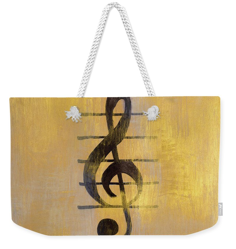 Treble Weekender Tote Bag featuring the painting Treble Clef by Lanie Loreth