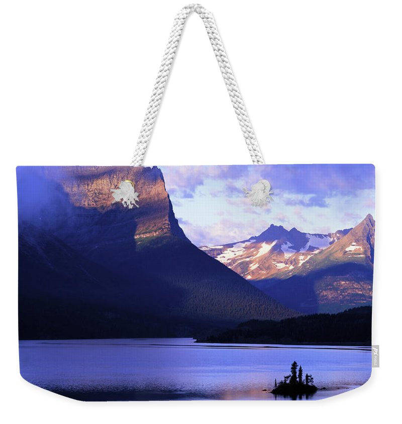 Scenics Weekender Tote Bag featuring the photograph Usa, Montana, Glacier Np, Mountains by Paul Souders