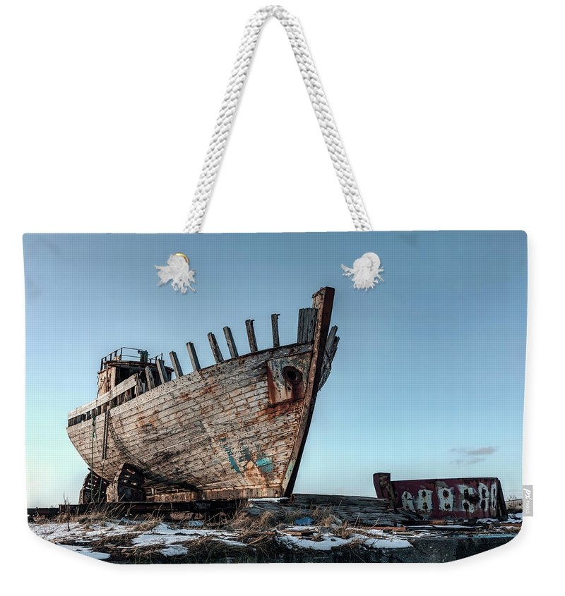 Shipwreck Weekender Tote Bag featuring the photograph Akranes - Iceland by Joana Kruse