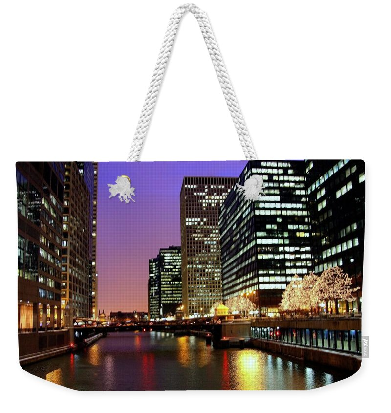 Chicago River Weekender Tote Bag featuring the photograph Chicago by J.castro