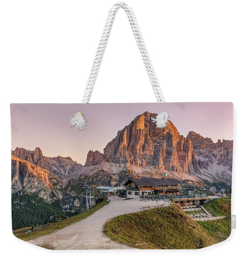 Cinque Torri Weekender Tote Bag featuring the photograph Cinque Torri, Dolomites - Italy by Joana Kruse