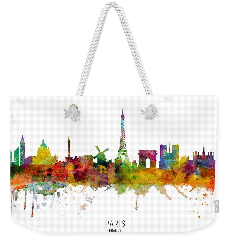 Paris Skyline Weekender Tote Bags