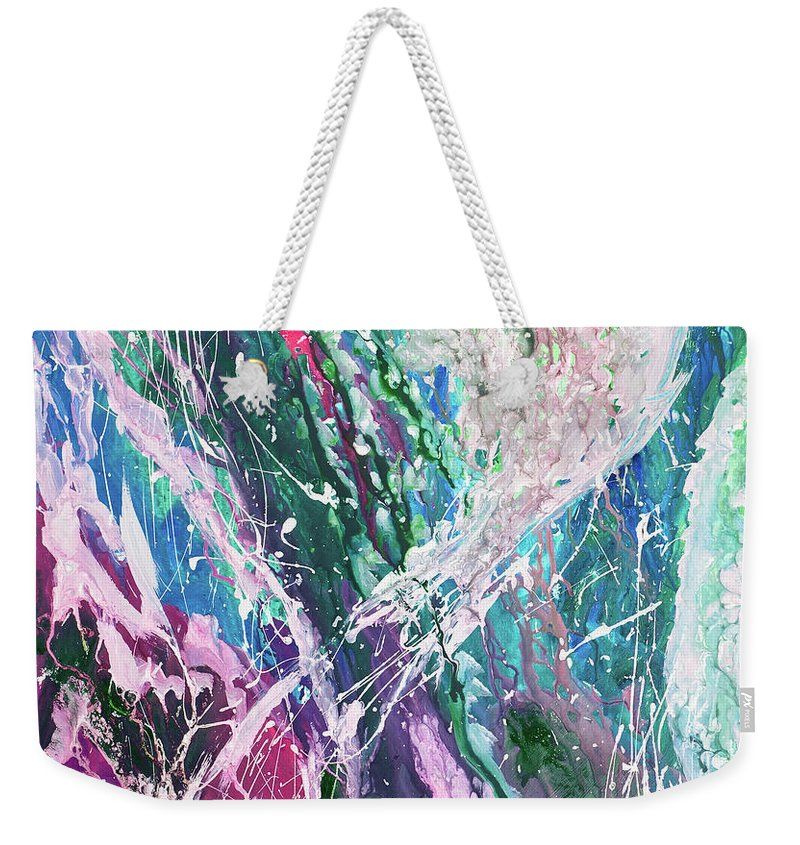 Art Weekender Tote Bag featuring the digital art Abstract Background by Balticboy