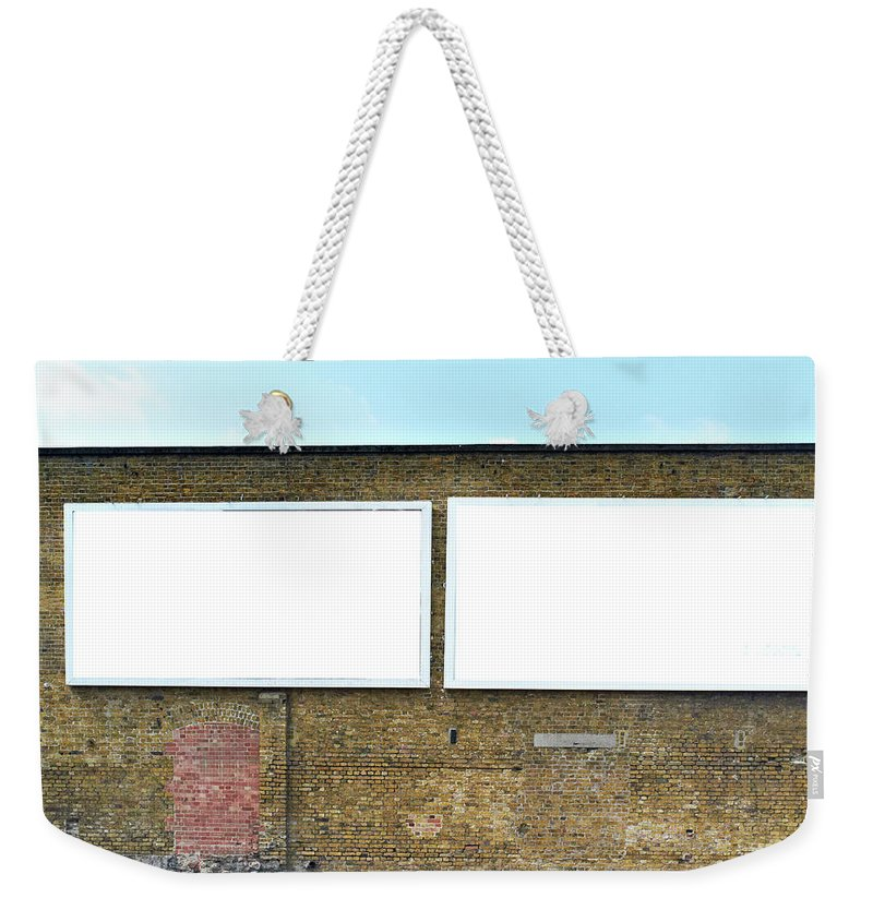 Empty Weekender Tote Bag featuring the photograph 2 Blank Billboards by Ben Richardson