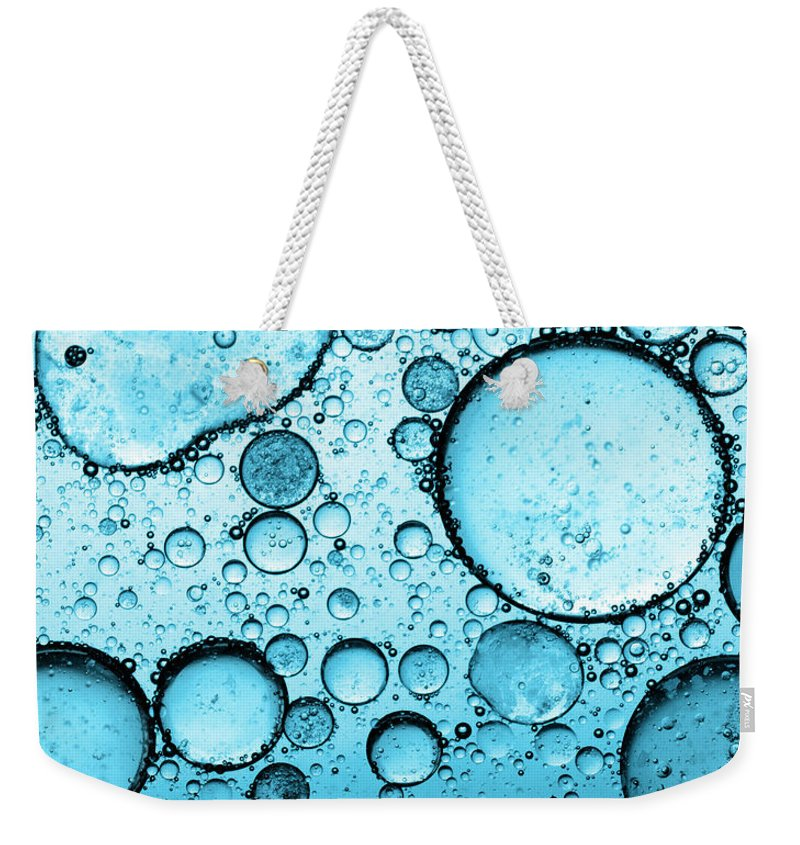 Natural Gas Weekender Tote Bag featuring the photograph Bubbles Abstract by Subman